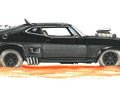 Movie Cars Illustrations