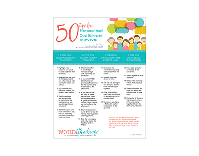 50 Tips for Homeschool Conf