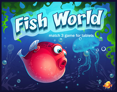 Fish World Match 3 for Tablets