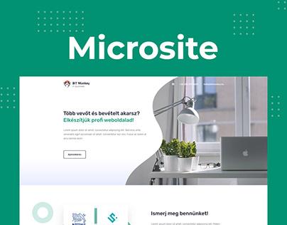 Bitmonkey Microsite Concept