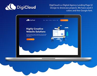 DigiCloud - Digital Agency Landing Page UI Design