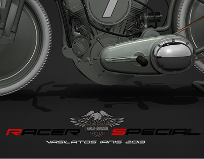 Harley Davidson Racer Special by Vasilatos Ianis