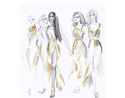 Sketches of VERSACE ss18