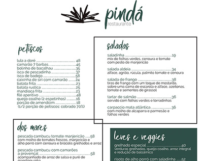 IDENTIDADE RESTAURANTE PINDÁ - HOTEL ALDEIA DE SAHY