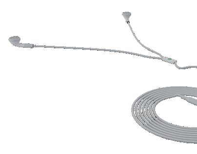 Memory In-ear earphones! (Long cord)