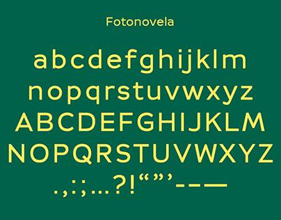 Fotonovela typeface