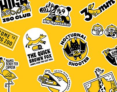 Jellyplayground Analog Zoo Sticker Set