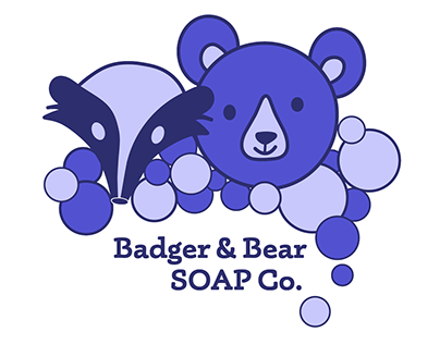 Badger & Bear SOAP Co. Logo Design
