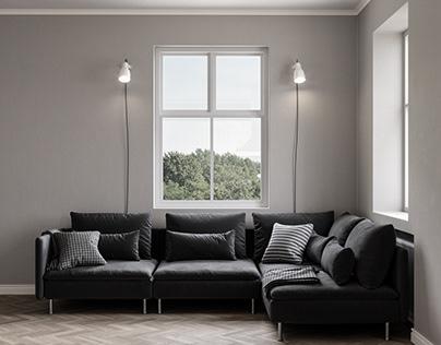 CGI Ikea SODERHAMN Sofa
