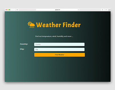 React Weather Finder