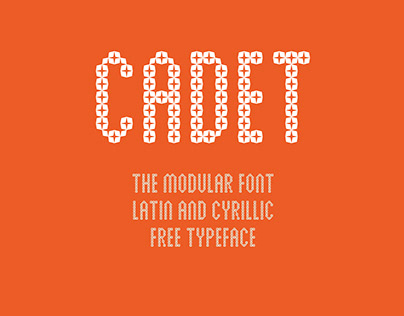 CADET free font Latin / Cyrillic