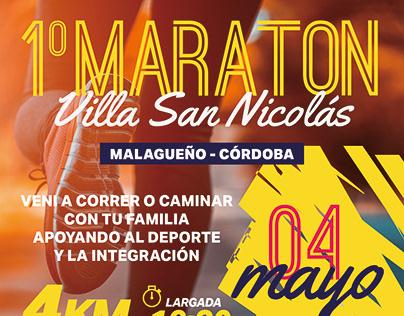 Afiche Maratón Malagueño - Proyecto Huayra