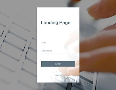 Daily UI #003 Landing Page