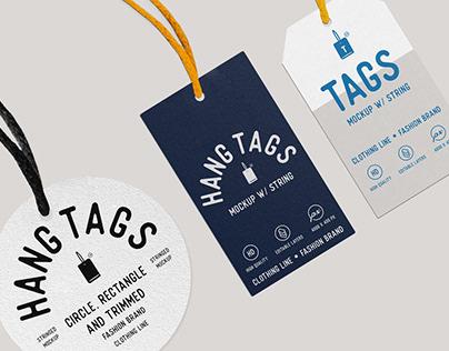 Hang Tag Mockup with String