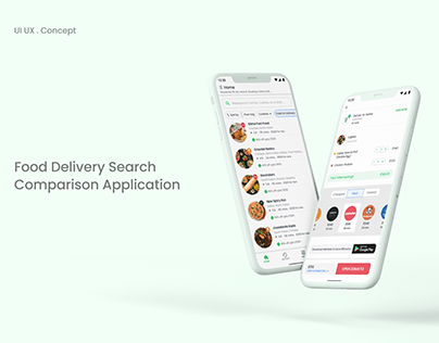 Food Delivery Search Comparison Application (UI UX)