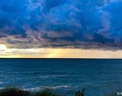 Rain over Lake Erie