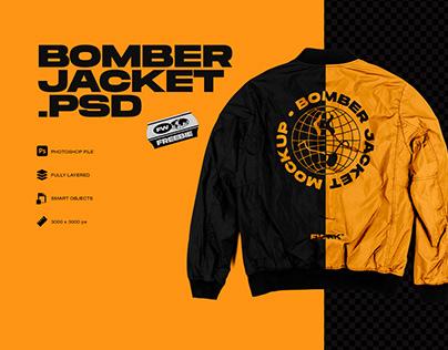 Free Bomber Jacket Photoshop Mockup
