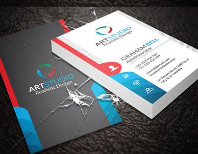 Vertical Business Card V.08
