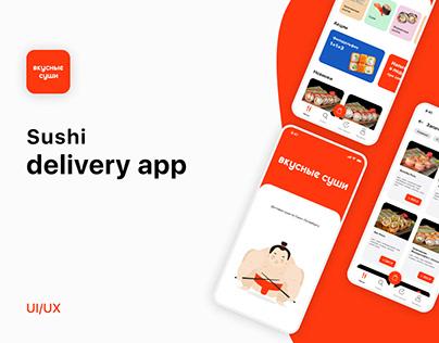 Вкусные суши - Mobile App Concept