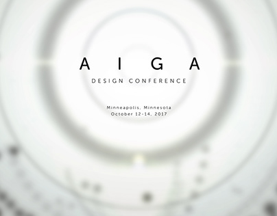 AIGA 2017 Design Conference Title Design