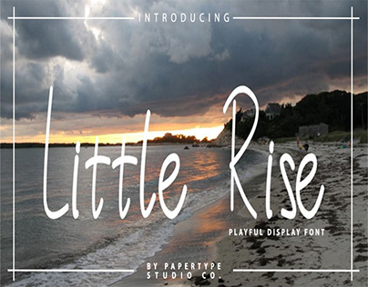 LITTLE RISE - FREE DISPLAY FONT