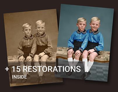 Restore old photos. Part 2
