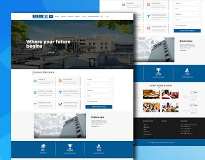 University Website UI/UX Design
