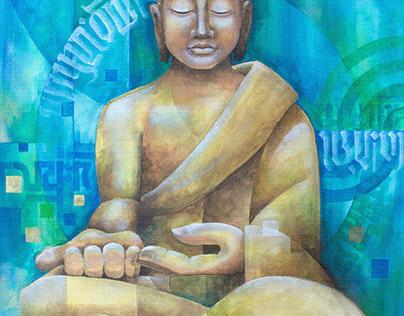 2020 1222 Buda generoso 70 x 80 Acrilico en tela