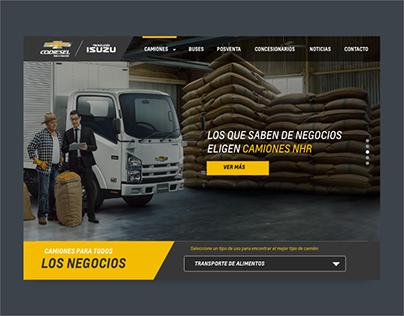 Chevrolet Codiesel, buses y camiones, plataforma web