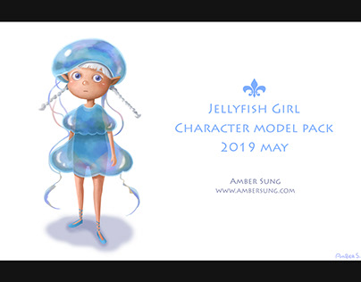 Jellyfish Girl Character Design