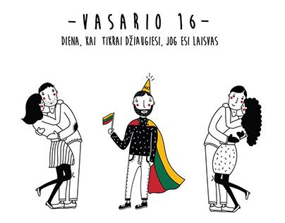 Illustration | Lithuania celebrates 100 - independence