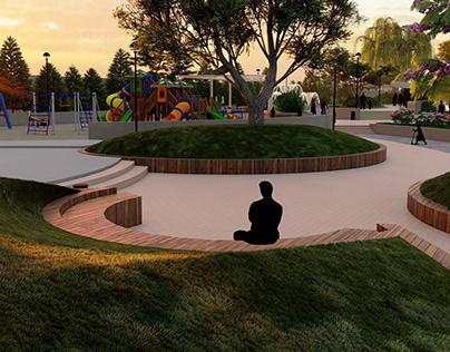 Public park design