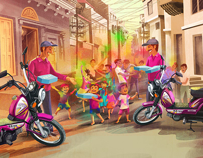 TVS XL Illustration Campaign