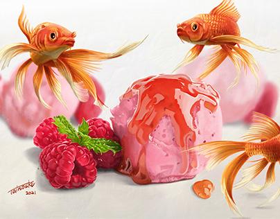Berry Ice & Koi fish