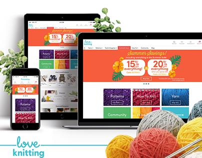 LoveKnitting Website