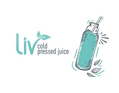 Liv Cold Pressed Juice Logo Design