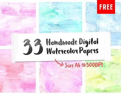33 Free Handmade Digital Watercolor Paper Textures