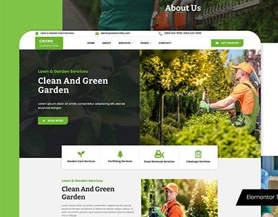 Gnome - Lawn Care Services Elementor Template Kit