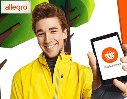 Allegro mobile app campaign