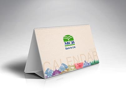 MCB Bank Calendar Design