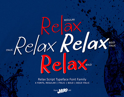 Relax - Font Family