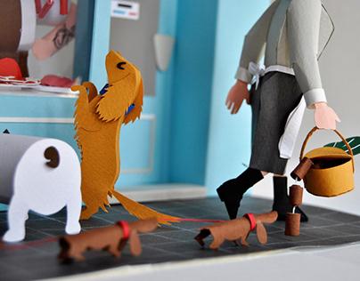 Sausages! / ¡Salchichas! - 3d paper miniature