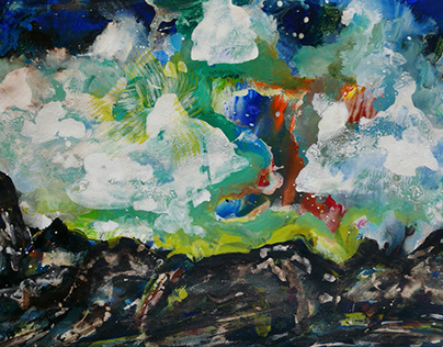 Abstract landscape in Dark Times of Corona