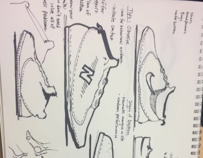 Shoe Design Sketching
