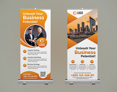 Corporate Business Roll Up Banners