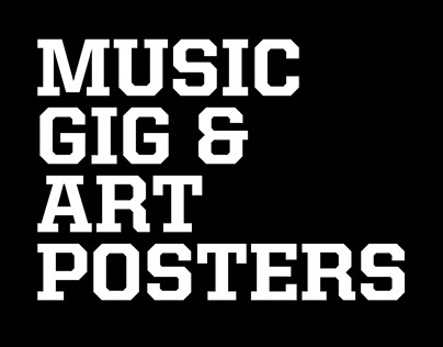 Music Gig and Art Posters