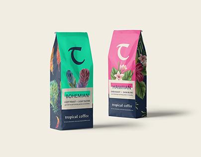 Tropical Coffee Branding, Packaging, & Web Design