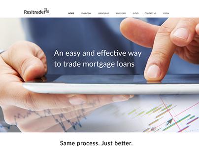 Resitrader Branding, Website and Software Design