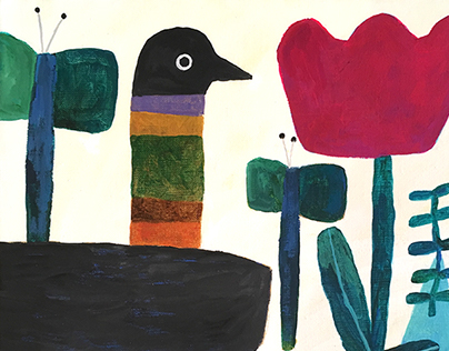 In the garden-2 birds