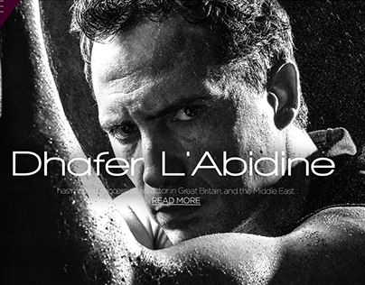 Dhafer L'Abidine Official Website design and Developmen
